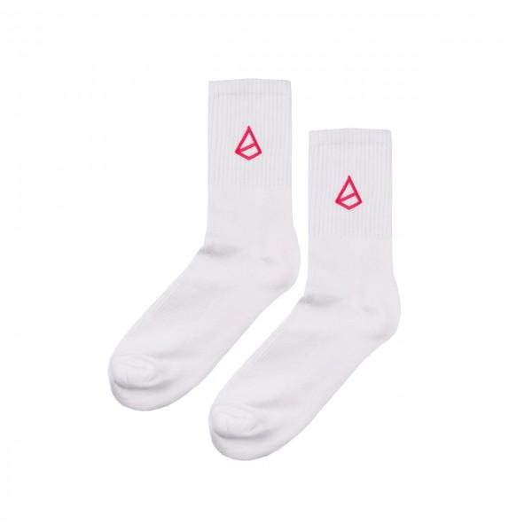 Snash - Emblem Socks White and Pink